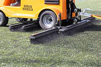 Sisis Rosca keeps state of the art synthetic pitch playing perfectly