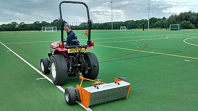 Sisis SSS1000 sweeper in use at Dixie Grammar School